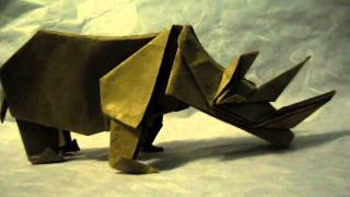 Origami Rhinoceros (not A Tutorial)