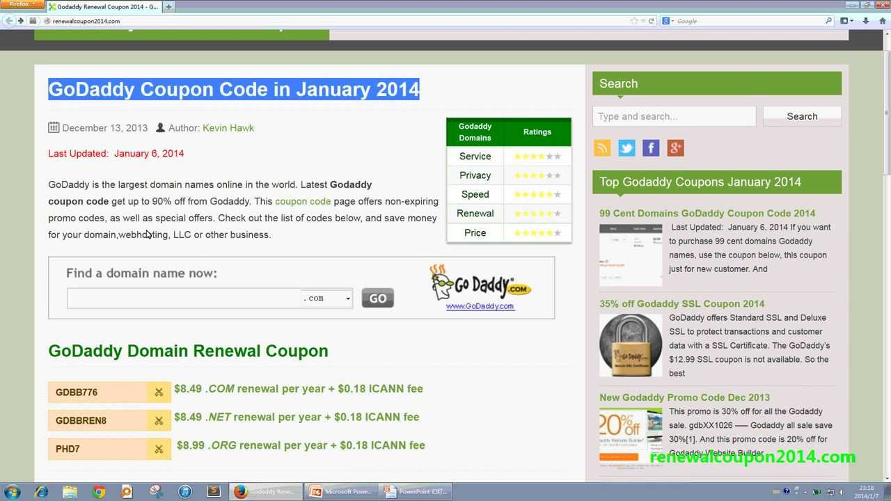 How To Use Coupon Code At Godaddy Youtube