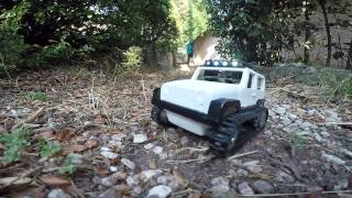 3D Printed Jeep with Tank tracks