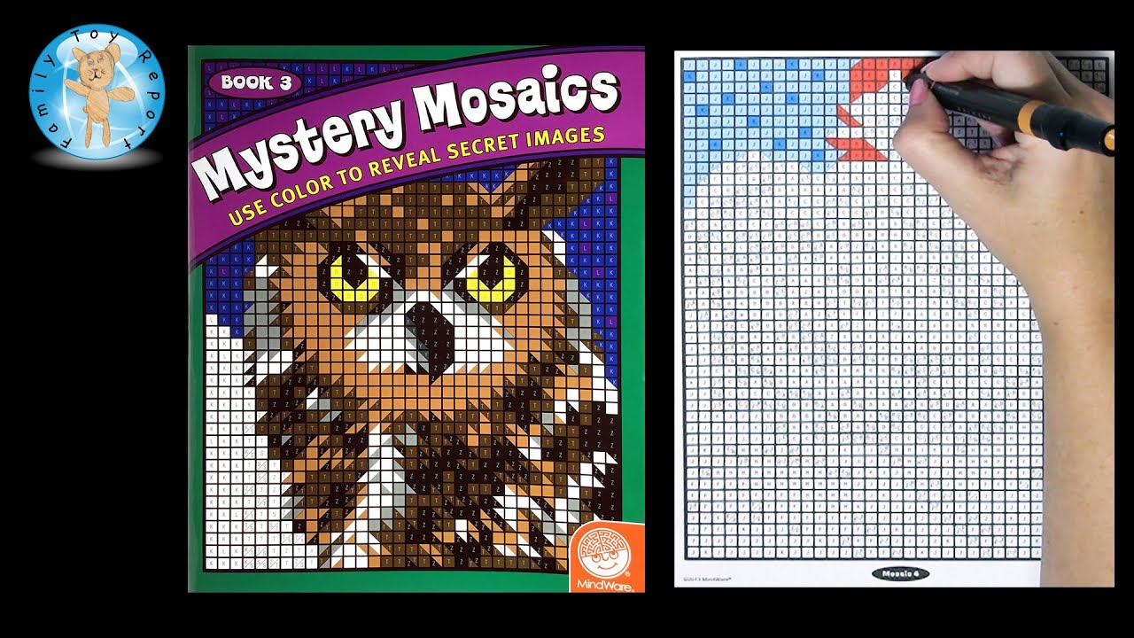 Mindware Mystery Mosaics Book 3 Coloring Book Time Lapse