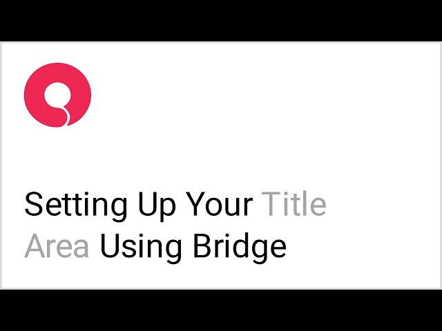 How to Set Up the Title Area in the Bridge WordPress Theme