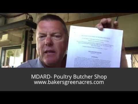 Is the State of Michigan at it again? I'll report - You DECIDE -MDARD-Poultry Butcher Shop -