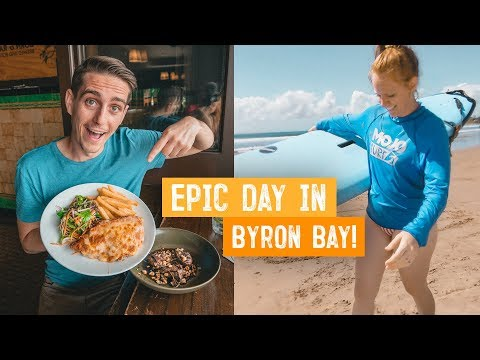 Trying Australia's MOST POPULAR PUB FOOD! + Learning To Surf 🏄‍♂️ | Wild Kiwi Tours | Byron Bay
