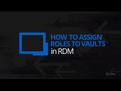 How to Assign Roles to Vaults in Remote Desktop Manager