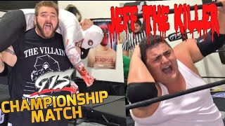 JEFF THE KILLER PUT THROUGH TABLE! TOMMY SALAMI OPEN CHALLENGE! GTS WRESTLING CHAMPIONSHIP MATCH!
