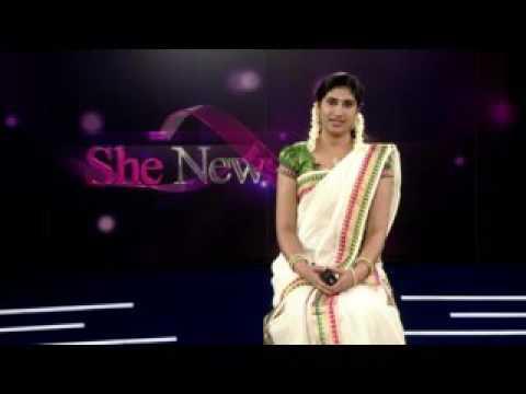ONAM Special SHE NEWS At Mathrubhumi News Read By Jais Merlin