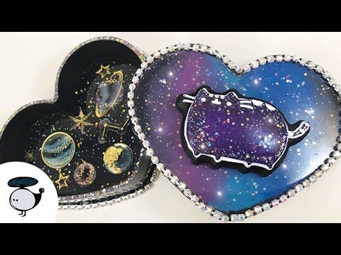 Pusheen Galaxy Resin Trinket Box | March Elves Box
