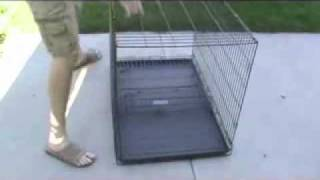 Wire Dog Crates (collapsible Portable Welded Wire Crates With Flooring) From K9 Kennel Store