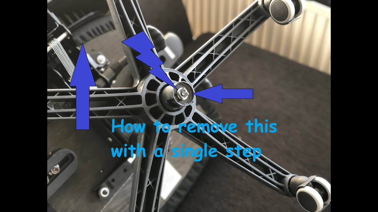 How To Remove The Base From The Office Chair Youtube