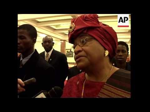Liberian President signs oil exploration deal, Sudanese president arrives