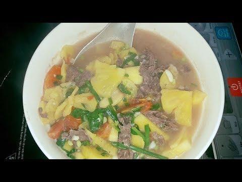 Cách nấu canh dứa thịt bò thơm ngon khó cưỡng!