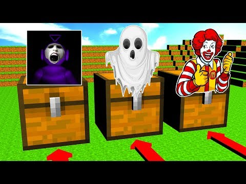 Do Not Choose The Wrong Chest (Slendytubbies, Ghost, Ronald Mcdonald)
