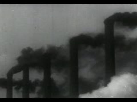 Stock Footage ● Industrial Smoke and Air Pollution (1940)