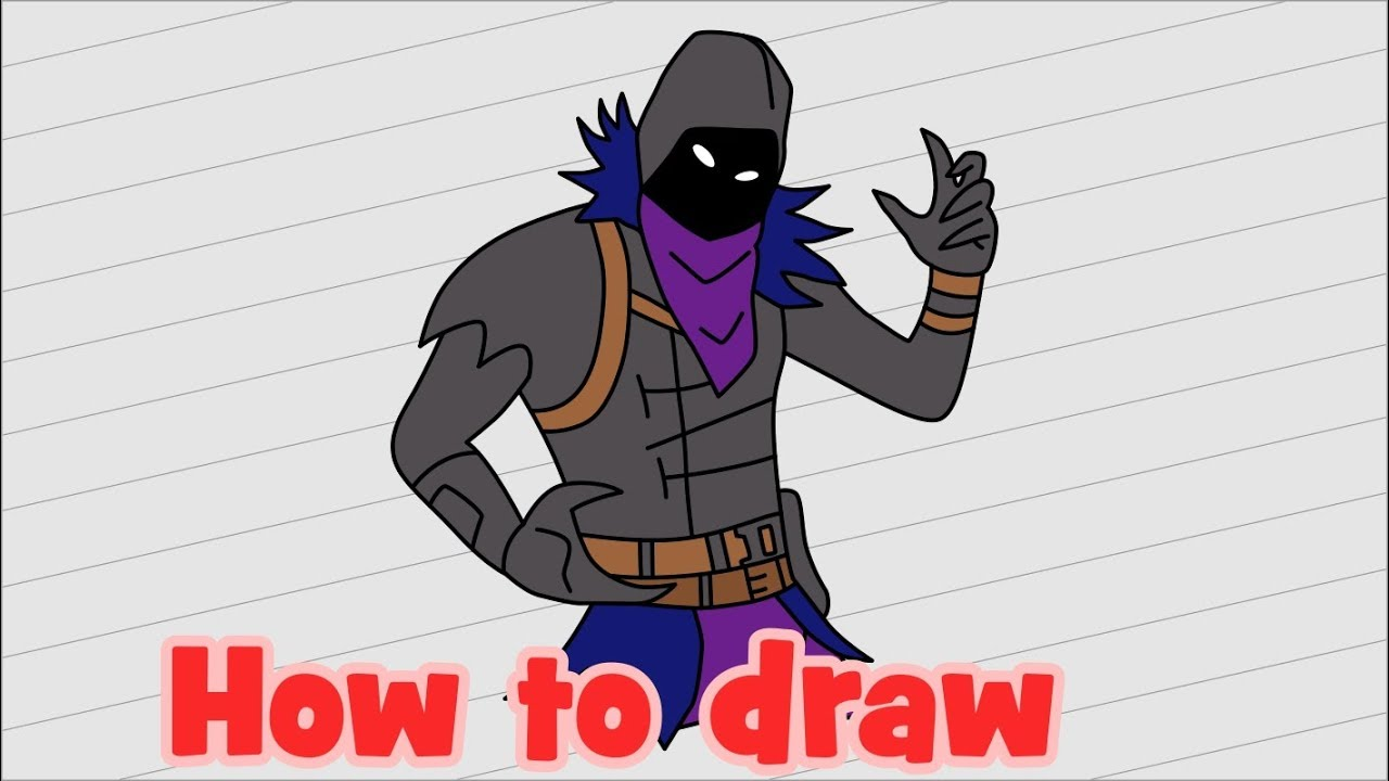 How To Draw Fortnite Characters Raven Youtube