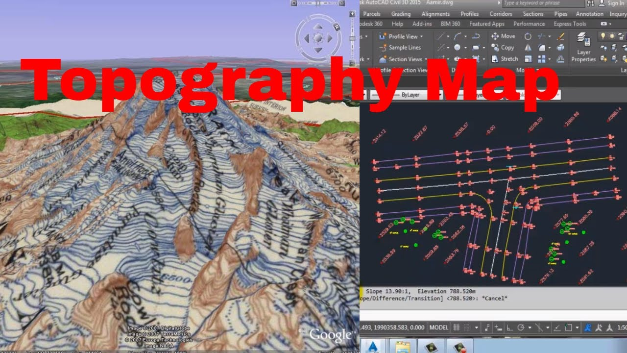 how to draw a 3d map