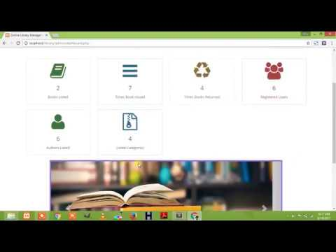 online library management system in PHP and mysql(Free Download)