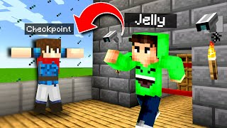 TROLLING Jelly By HIDING In His HOUSE For 24 HOURS! - Minecraft Mods Gameplay