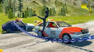 BeamNG.Drive Chained Police Dummy RoadBlock