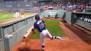 Chris Archer Bullpen- Fenway Park September 21, 2015. WWW.BULLPENVIDEOS.COM