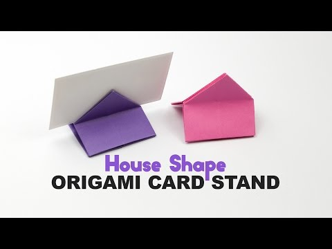 Origami Square / House Shaped Card Stand Tutorial ♥︎ DIY ♥︎ Paper Kawaii