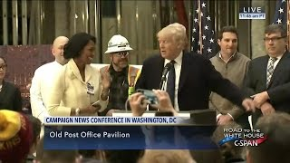 Donald Trump conducts impromptu job interview during press conference (C-SPAN)