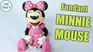 How to make fondant Minnie Mouse