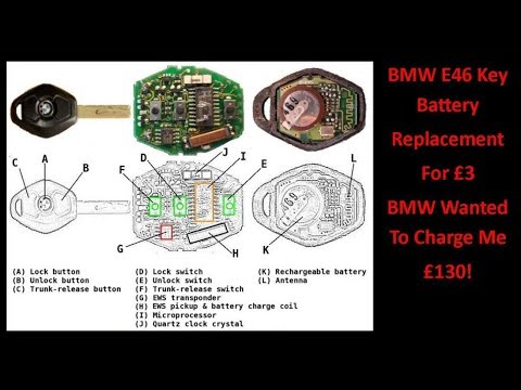 bmw e46 key battery replacement for 3 youtube. Black Bedroom Furniture Sets. Home Design Ideas