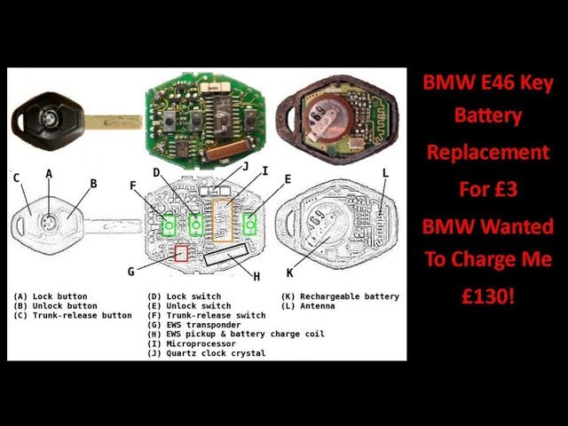 BMW E46 Key Battery Replacement For £3! - YouTubeYouTube