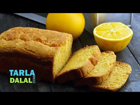 Orange Cake Recipe, Eggless Orange Slice Cake by Tarla Dalal