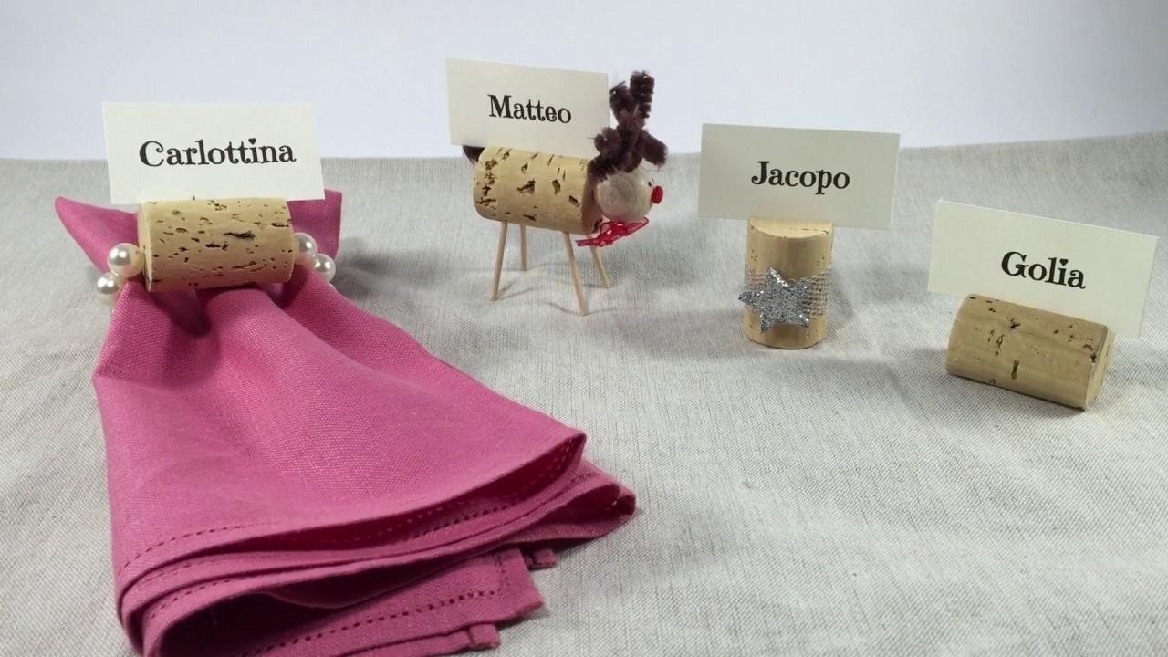 Idee Creative Con Tappi Di Sughero : Segnaposto fai da te per natale idee creative con i tappi