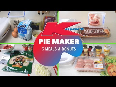 KMART PIE MAKER HACKS   QUICK AND EASY PIE MAKER RECIPES   JAM DONUTS
