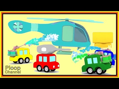 Thumbnail: Cartoon Cars Learn to PAINT a HELICOPTER! - Construction Cartoons for Children - Kids Cars Cartoons