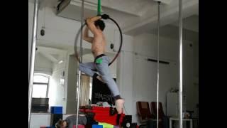 Pawel Kulaga - aerial hoop improv to Systemagic