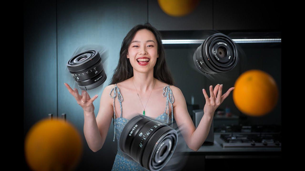 """最轻最小的""""电影镜头组"""":索尼G24mm/40mm/50mm 上手使用体验"""