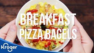 Breakfast Pizza Bagels Recipe | VIDEO | Kroger