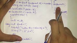 Factorial using do while loop