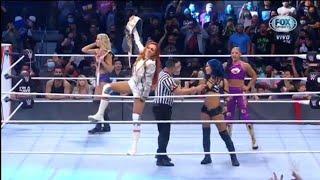 Entradas Sasha Banks Bianca Belair Charlotte Flair Becky Lynch WWE Raw 11 10 2021 En Español