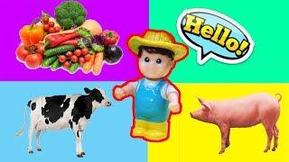 Домашние животные и счастливые сады для детей / домашние животные для детей на английском