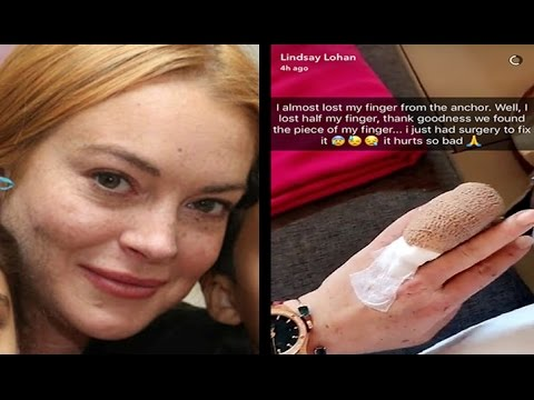 Lindsay Lohan Loses Part of Finger in Boating Accident