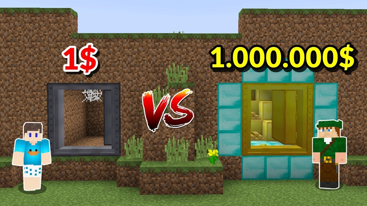 Download PASSAGEM SECRETA DE 1 REAL VS PASSAGEM SECRETA DE 1.000.000 DE REAIS NO MINECRAFT!