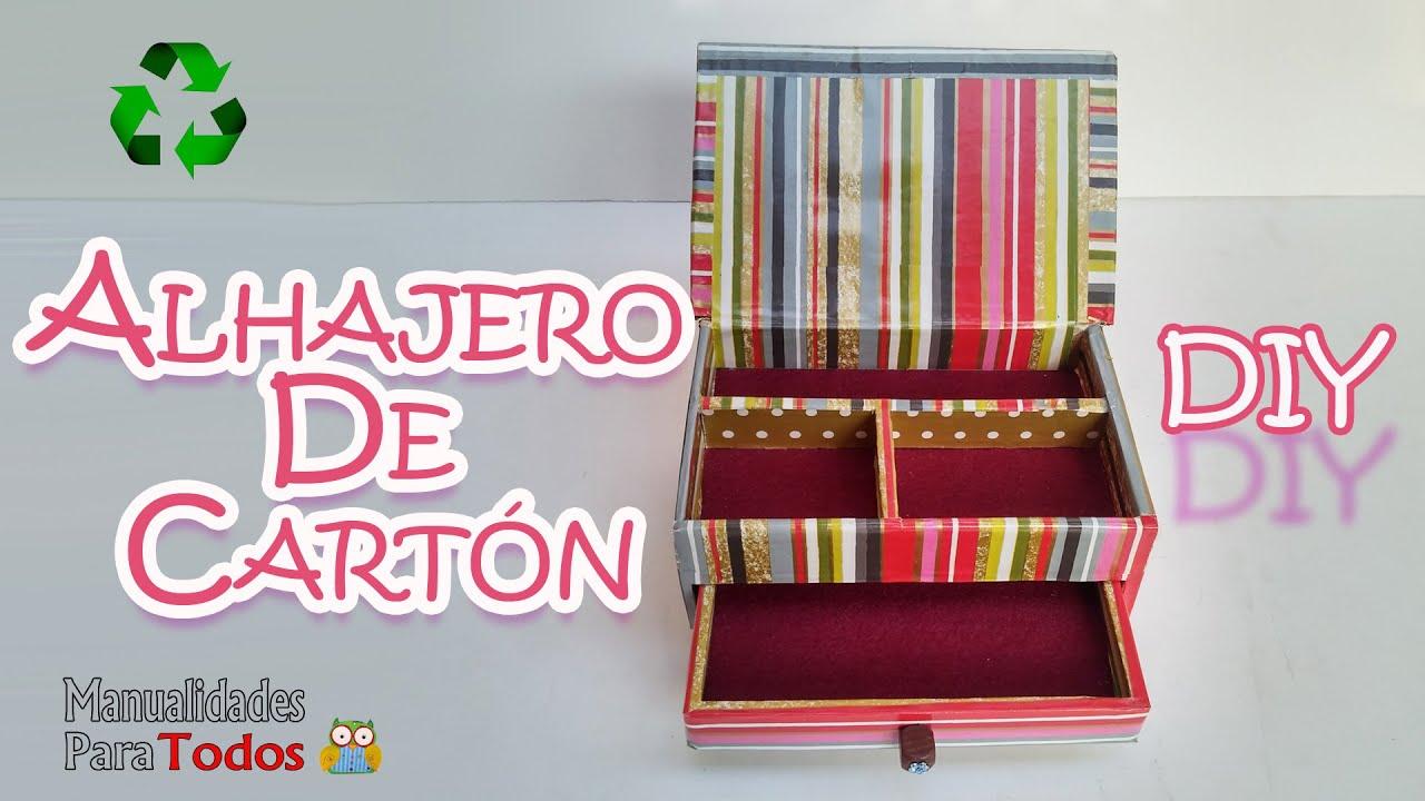 Manualidades alhajero joyero jewelry box manualidades - Manualidades en carton ...