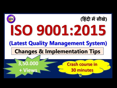 ISO 9001:2015 (Latest Quality Management System) (हिंदी में सीखे) - - YouTube