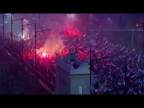 Right wing Extremists streets of Warszawa 11th november 2017 VGTV