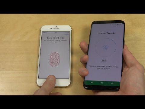 iPhone 7 vs. Samsung Galaxy S8 - Fingerprint Scanner Speed Test!