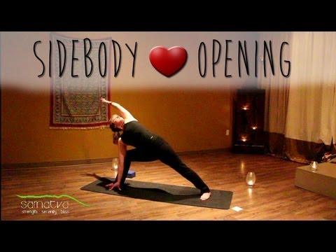 ❤ 20 Minute Sidebody Opening Yoga Class | w. Maggie Juby of Samatva Yoga ❤