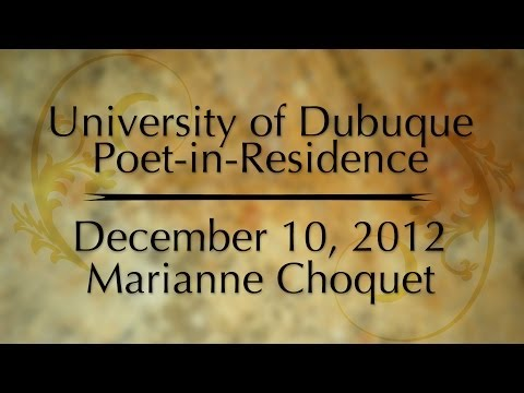 Poet-in-Residence: Marianne Choquet December 10, 2012