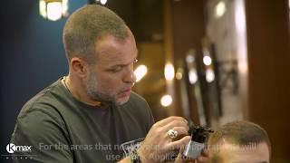 мужская стрижка для редких волос с Kmaх. Демонстрирует барбер Yiannis Sakellarakis*