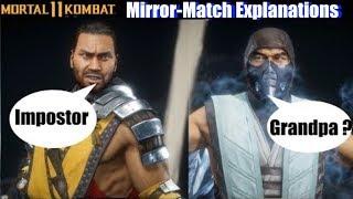 MK11 Characters Explain Mirror Match Reasons - Mortal Kombat 11 Intros