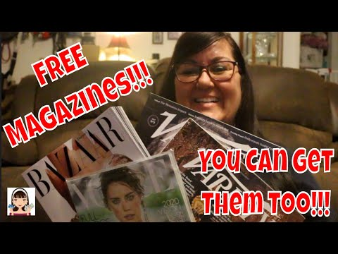 I GET 👉FREE👈 MAGAZINES & SO CAN YOU!!!