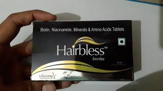 Hairbless tablet review in hindi